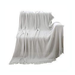 Plain White Throw Blanket