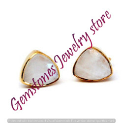 Moonstone Gemstone Ear Stud