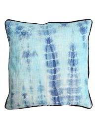 Designer Abstract Tie Dye Cotton Slub Quilted Pillow Cover