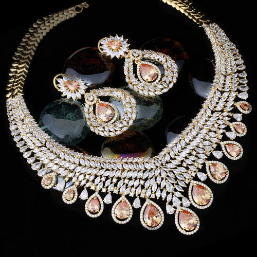e34a893a0 American Diamond Necklace Set - Elegant American Diamond Necklace Set  Manufacturer from Mumbai