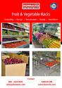 Donrack Fruit and Vegetable Stainless Steel Display Heaper