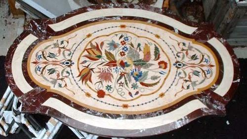 Marble Table Tops   Marble Inlay Coffee Table Top Wholesale Trader From Agra