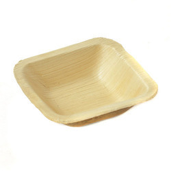 7 Inch Square Areca Leaf Bowl
