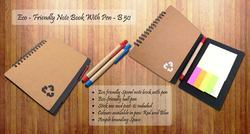 Eco Friendly Spiral Note Book With Pen