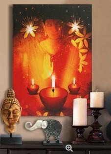 Buddha Meditating Wall Art With Led Lights & L E D Buddha Art - Buddha Meditating Wall Art With Led Lights ...