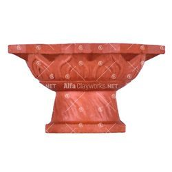 Terracotta Diya with Stand