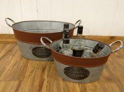 Galvanized  Storage Bucket With Steel Handles
