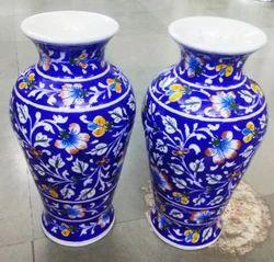 Blue Pottery Ceremic Flower Pot