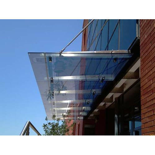 Transparent Stainless Steel Glass Canopy Rs 750 Square Feet Sun