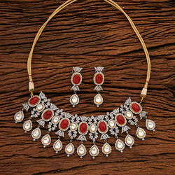 Designer Classic Necklace With Black Plating 61767