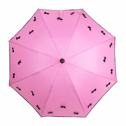 Straight Auto Open Pink Umbrella