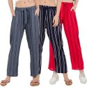 Regular Fit Women's Printed Palazzo Pants Womens Inner & Pocket Trousers
