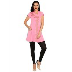 Ira-Soleil-Pink-Polyester-Knitted-Stretchable-Asymentrical