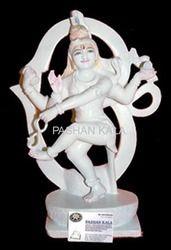White Marble Shiva God Statue