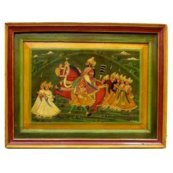 Wooden Mughal Painting