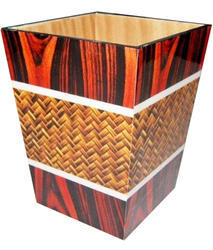 MDF Decoration Dustbin For Hotel Room
