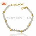 925 Silver Beaded Gemstone Bracelet