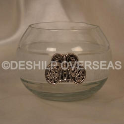 Clear  Bowl Shape Candle Holder