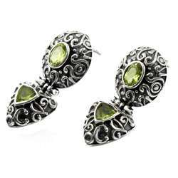 Stunning Peridot 925 Sterling Silver Earrings