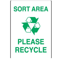 Visual Workplace Recycling Signs