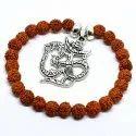 Unisex 100% Natural Rudraksha Beads Charm Bracelet