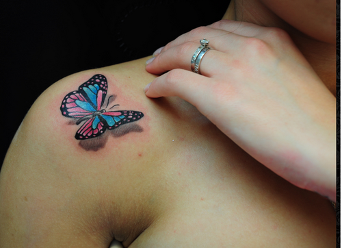 3D Butterfly Tattoos On Shoulder & 3D Tattoo Designs Pictures from ...