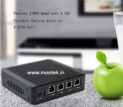 Embedded Box PC with 4LAN