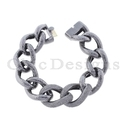 Two Link Chain Matte Finish Bracelet