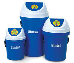 Primary Vertical Waste Bins With Flap Lids
