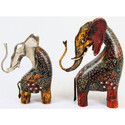 Wooden Hand Painted Elephant