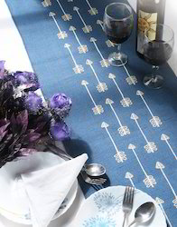 Laminated Jute Embroidered Table Runner