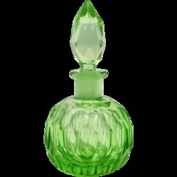 Green Color Perfume Bottle