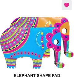 Elephantshape Pad  ( Set Of 2 )