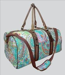 Cotton Kantha Paisley Luggage Bag