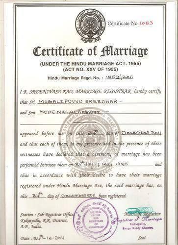 Marriage Certificate Services & Lost Marriage Registration ...