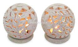 Designer Soapstone Candle Holder