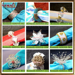 Beaded Napkin Rings Crystal Napkin Ring Holders
