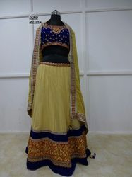 Beige Georgette Embroidered Lehenga Choli