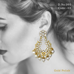 Traditional Antique Kundan Earrings