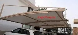 Conical Car Parking In Tensile Structure