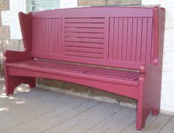 Red Color Hand Rest Bench
