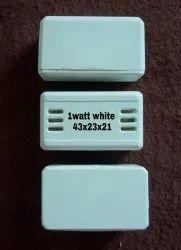 1 Watt White LED Driver Plastic Casing