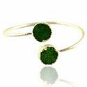 Druzy Green Gemstone Adjustable Bangles