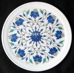 Marble Inlay Plate Decorative Gift Plate
