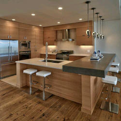 Laminated Texture Kitchen