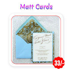 Multi Color -Wedding Cards  - Matt- A4 Size/ 130 Gsm