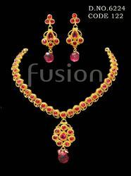 Traditional Beaded Wedding Necklace Set