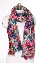 Modal Viscose Cotton Blends Floral Printed Scarves