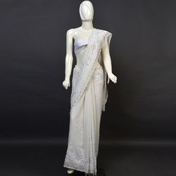 Saree pure work only