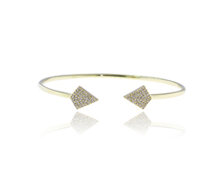 Pave Diamond Gold Bangle